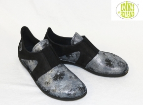 Loints, Natural 68746, Flower black silver