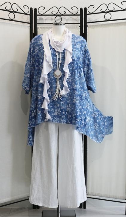 Shirt Blümchen blau 0363-ShKS