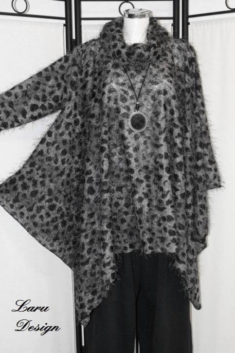 Shirt Cape mit Kragen 0399-ShC