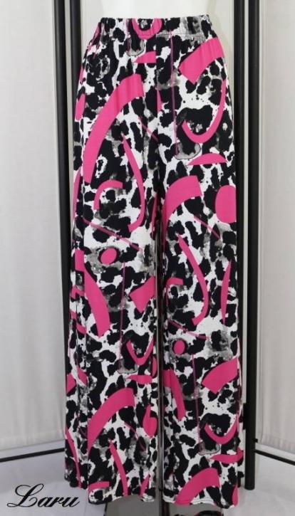 Hose Marlene Jersey Pink gemustert