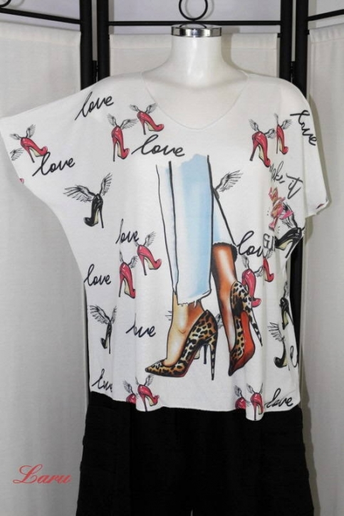 Shirt Love Shoes red 20088