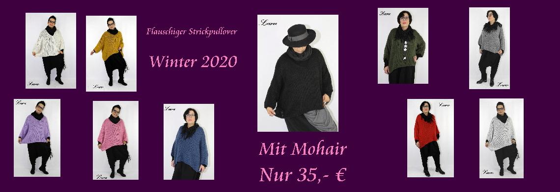 Flauschiger Strickpullover Mohair