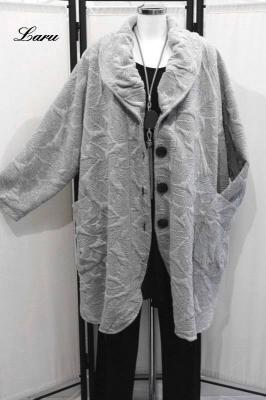 Fleece Shirt Baumwolle mit Kapuze [1 | silbergrau]