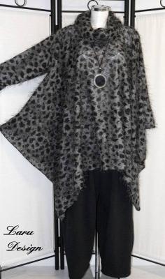 Stiefelette Black Croco Straß 022